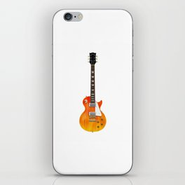 Guitar With Fire Graphics iPhone Skin