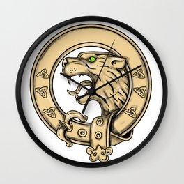 Scottish Wildcat Belt Tattoo Wall Clock