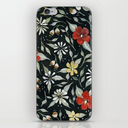 Southwest Style Oval Floral Gouache Painting iPhone Skin