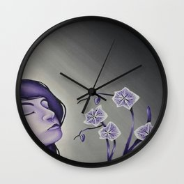 Wallflower Girl Wall Clock