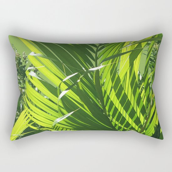 It's All About Greenery Rectangular Pillow