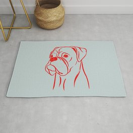 Boxer (Gray and Red) Rug
