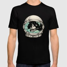 Spaceship MEDIUM Black Mens Fitted Tee