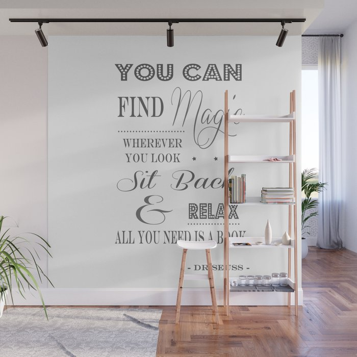You Can Find Magic Wherever You Look Dr Seuss Wall Mural by