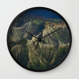 Calanchi of Civita di Bagnoregio (Italy) Wall Clock