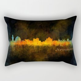 Jerusalem City Skyline Hq v4 Rectangular Pillow