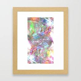 SHINY IREDESCENCE DESIGN Framed Art Print