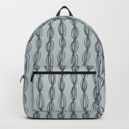 Geometric abstract hand painted gray pastel green dots stripes Backpack