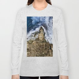 An abstract of the ocean and the coastal rocks. Long Sleeve T-shirt