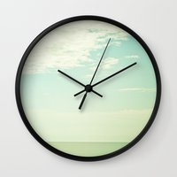 breathe Wall Clocks featuring Breathe by Olivia Joy StClaire
