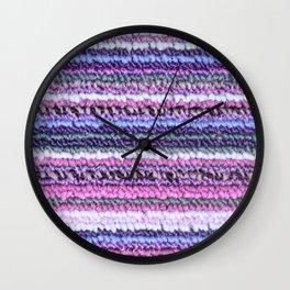 Purple Pink Periwinkle Carpet Texture Wall Clock