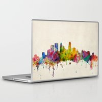 minneapolis Laptop & iPad Skins featuring Minneapolis Minnesota Skyline by artPause