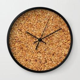 Golden linseed Wall Clock
