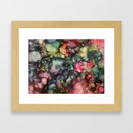 Abstract Warm Tones Framed Art Print