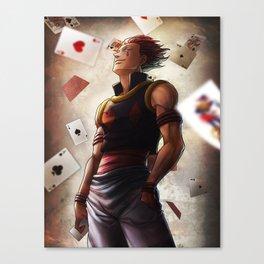 Hisoka (cards) Artwork Canvas Print