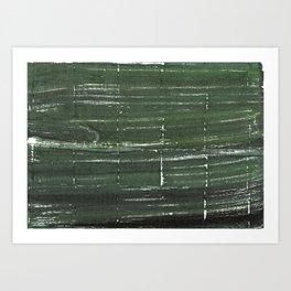 Kombu green abstract watercolor background Art Print