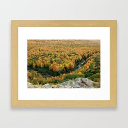 Autumn Colors at the Carp River Valley, Porcupine Mountains State Park, Upper Peninsula, MI Framed Art Print