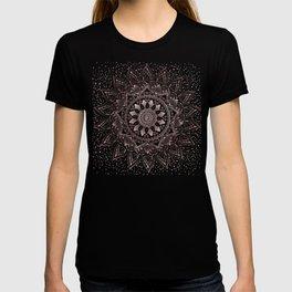 Elegant rose gold mandala confetti design T-shirt
