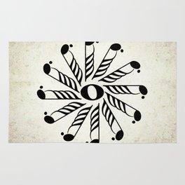 Vignette music note mandala Rug