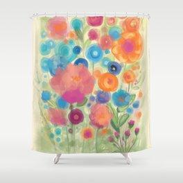 Flower Power Garen by Odette Lager Shower Curtain
