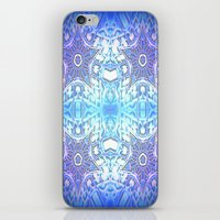 frozen iPhone & iPod Skins featuring Frozen Stars Periwinkle Lavender Blue by 2sweet4words Designs