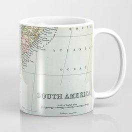 Vintage Map of the South of America Coffee Mug