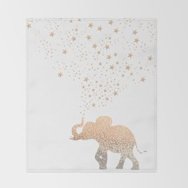 GOLD ELEPHANT Throw Blanket