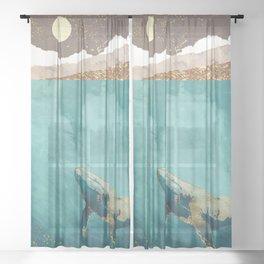 Light Beneath Sheer Curtain