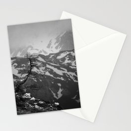 Lonely tree with stunning view on mountains Stationery Cards