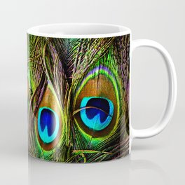 Peacock Feathers Invasion - Wave Coffee Mug