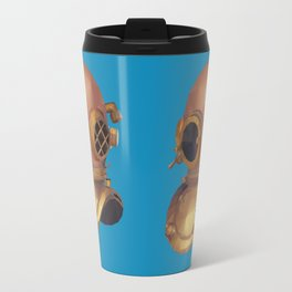 Retro Diver Helmet Polygon Art Travel Mug