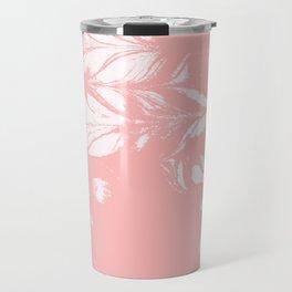 Tan - spilled ink rose pink marble marbling japanese watercolor water wave Travel Mug