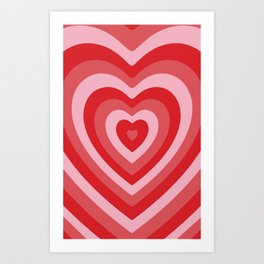 Hypnotic Hearts Art Print