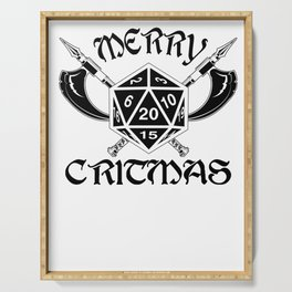 Gamer Christmas Critmas RPG Gift Serving Tray
