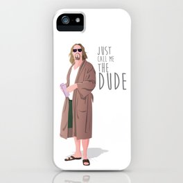 the dude, the big lebowski iPhone Case