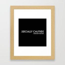 Introvert Proverb Framed Art Print