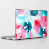 water color Laptop & iPad Skins featuring Water color by moniquilla