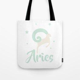 Aries March 21 - April 19 - Fire sign - Zodiac symbols Tote Bag