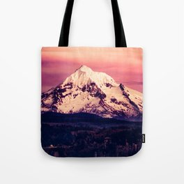 Mt Hood Mountain with Snow Tote Bag
