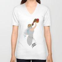 aquarius V-neck T-shirts featuring Aquarius by Rejdzy
