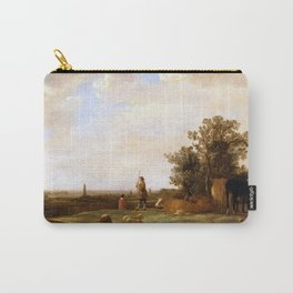 Aelbert Cuyp - View on a Plain (1644) Carry-All Pouch