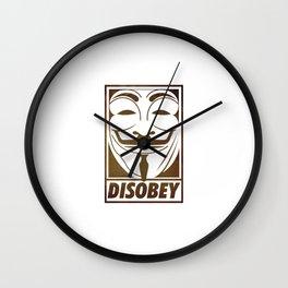 Disobey Wall Clock