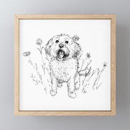 Cute Doggy Framed Mini Art Print