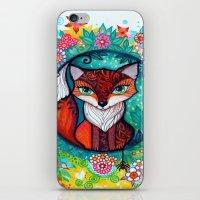 tatoo iPhone & iPod Skins featuring tatoo fox by oxana zaika