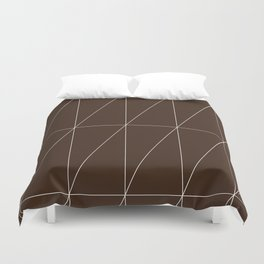 Brown Triangles by Friztin Duvet Cover