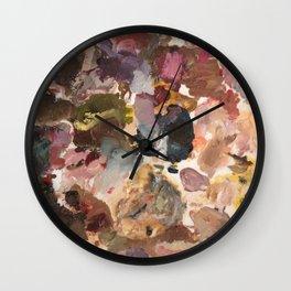 Paint Pallet Wall Clock