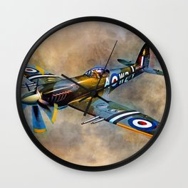 Spitfire Dawn Flight Wall Clock