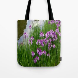 Iris Water Garden Tote Bag