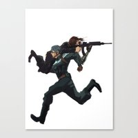 stucky Canvas Prints featuring Dammit Steve by MMCoconut