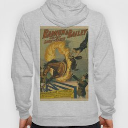Vintage poster - Circus Horse Jumping Through Fire Hoody